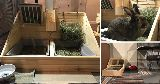 custom made bunny litter tray hay feeder